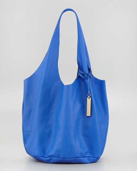 Shrunken Wow Tote Bag, Dazzling Blue