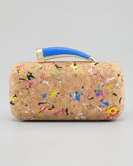 Colorful Cork Horn Clutch Bag