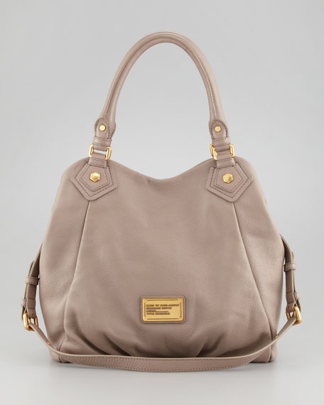Classic Q Fran Satchel Bag, Tan