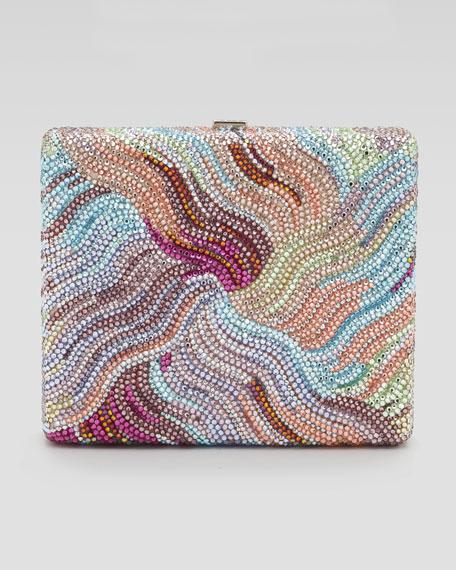 Bay Breeze Striped Square Crystal Clutch Bag