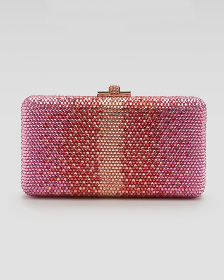 Airstream Large Ombre Pointillist Clutch Bag, Pink