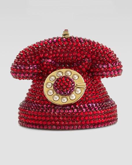 Mini Ringaling Rotary Phone Minaudiere, Red