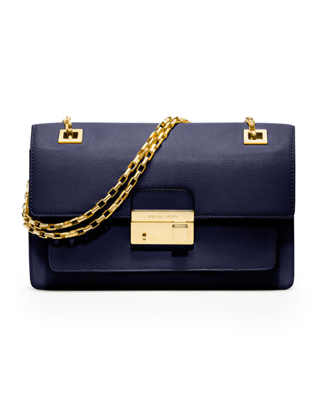 Gia Chain-Strap Flap Bag