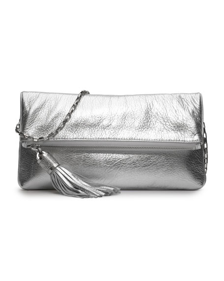 Tonne Metallic Fold-Over Clutch