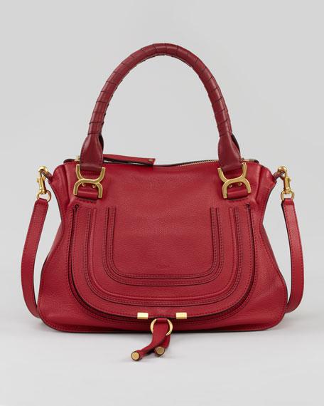 Marcie Medium Shoulder Bag, Red