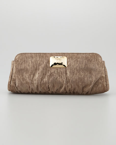 Crosby Metallic Lines Clutch Bag