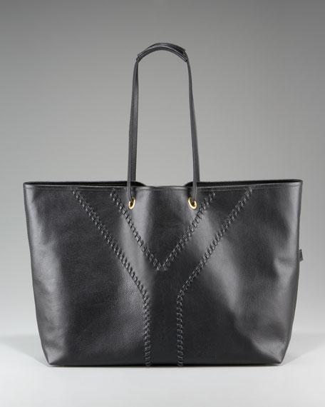Whipstitched Shopping Bag, Medium