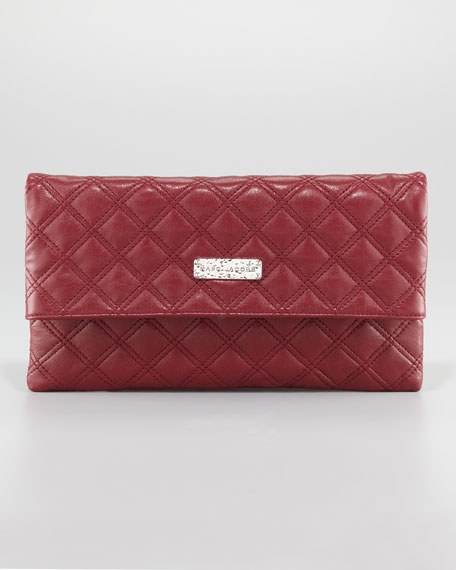 Eugenie Quilted Oversize Wallet, Large