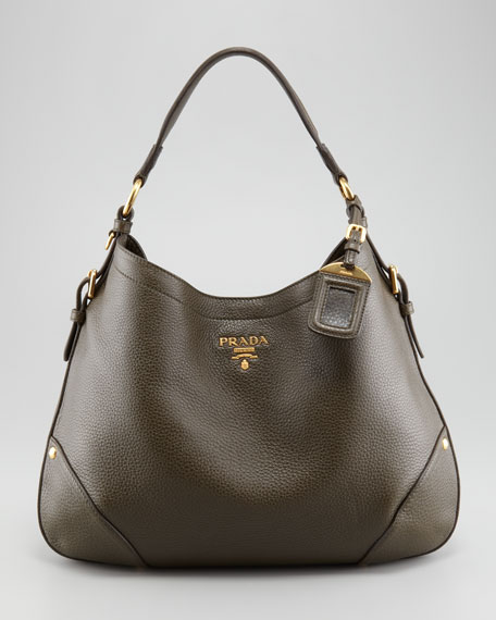Vitello Daino Snap Hobo Bag