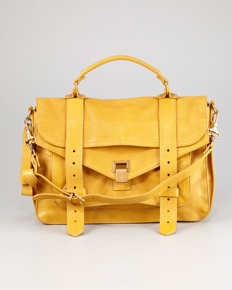 PS1 Medium Satchel Bag, Mustard