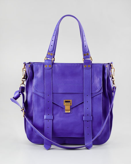 PS1 Leather Tote Bag, Purple Rain