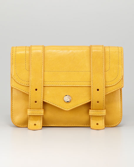 PS1 Leather Wallet-on-a-Chain, Mustard
