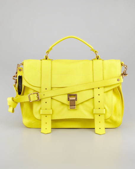 PS1 Medium Satchel Bag, Sunshine