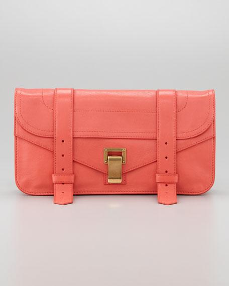 PS1 Pochette Clutch Bag, Deep Coral