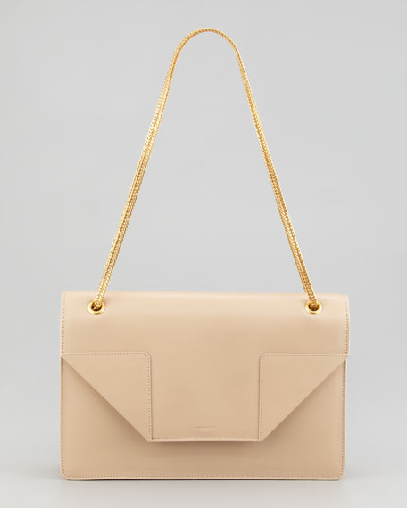 Betty Medium Chain Shoulder Bag, Nude