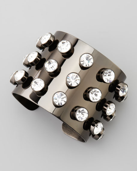 Crystal-Stud Cuff Bracelet