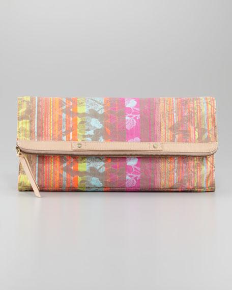 Neon Jacquard Banker's Clutch Bag