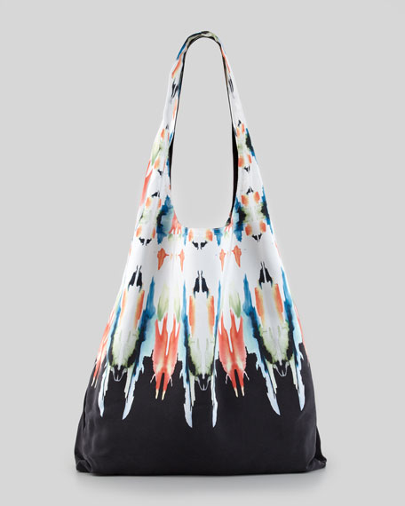 Watercolor Border Shopper Bag