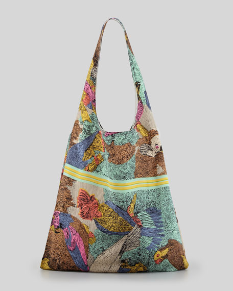 Parrot Scarf Shopper Bag