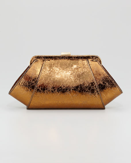 Posen Metallic Clutch Bag, Bronze