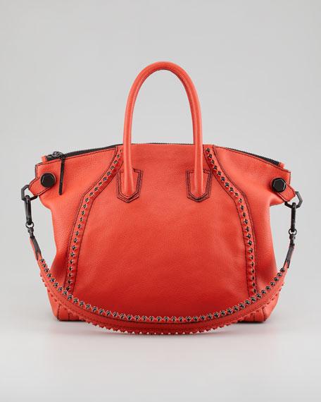Tanya Bead-Trim Satchel Bag