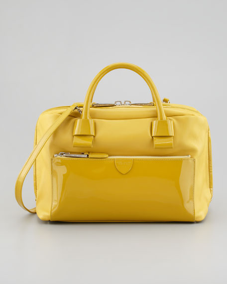 Antonia Small Satchel Bag, Natural