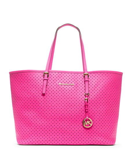 Medium Jet Set Perforated Travel Tote