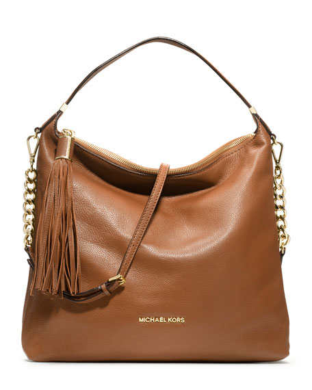 Large Bedford Tassel Pebbled Shoulder Bag