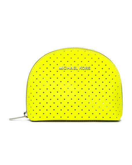 Large Jet Set Perforated Cosmetic Case