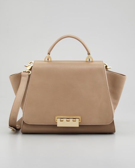 Eartha Full-Flap Satchel Bag, Elephant