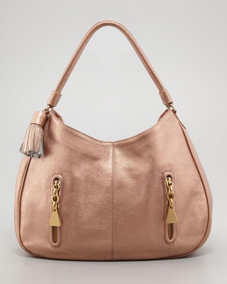Cherry Hobo Bag, Champagne