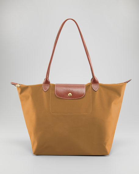 Le Pliage Large Shoulder Tote Bag, Camel
