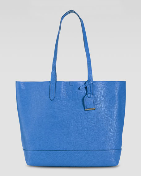 Haven Pebbled Leather Tote Bag, Blue