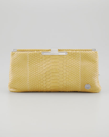 Lauren Python Clutch Bag, Pear
