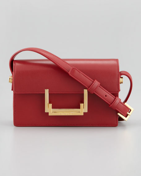 Small Lulu Shoulder Bag, Red