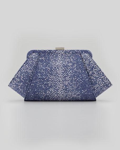 Posen Stingray-Embossed Clutch Bag, Marlin