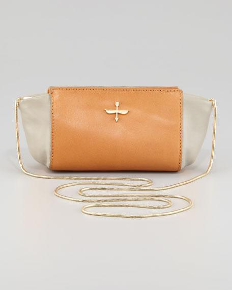 Elie Two-Tone Mini Crossbody Bag, Bone