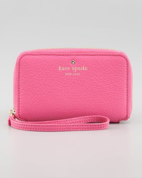 louis phone wristlet wallet, pink