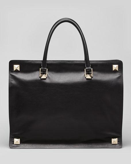 Rockstud Double Handle Stud Bag, Black