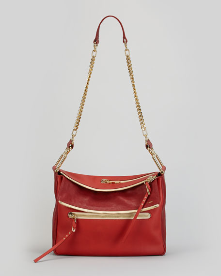 Vanessa Chain Shoulder Bag, Red
