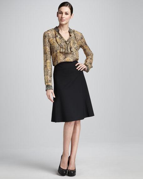 Eli A-Line Skirt, Black