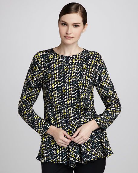 Cicely Houndstooth Blouse