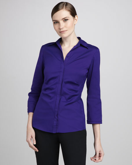 Leigh Stretch-Cotton Blouse