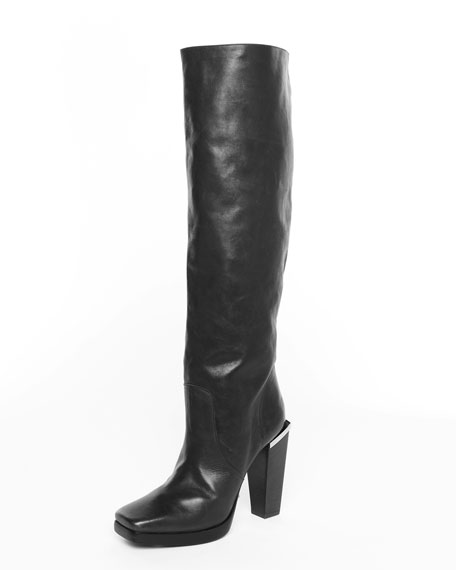 Tall Leather Boot, Brown