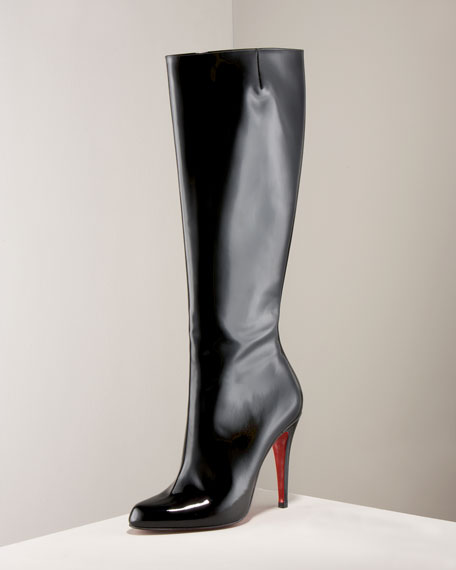 Bourge Patent Boot, Tall