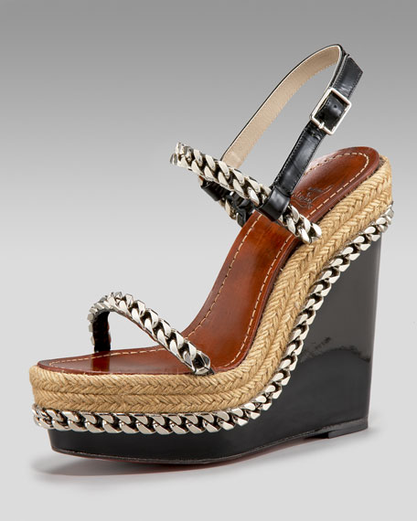 Chain-Embellished Espadrille