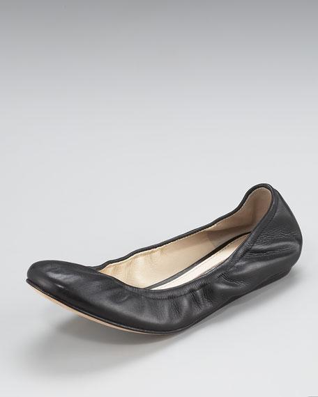 Lillian Scrunched Ballerina Flat