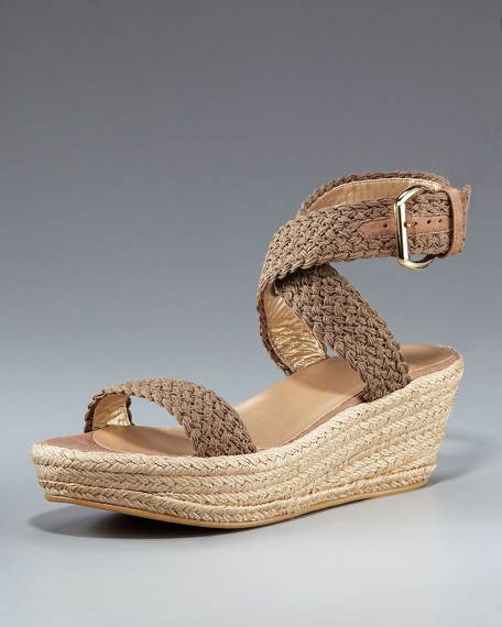 Crocheted Ankle-Wrap Espadrille