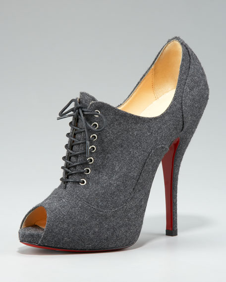 Lace-Up Bootie, Gray