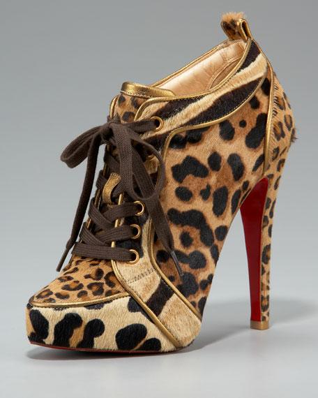 christian louboutin leopard print booties
